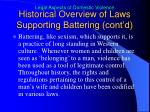 historical overview of laws supporting battering cont d3