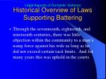 historical overview of laws supporting battering