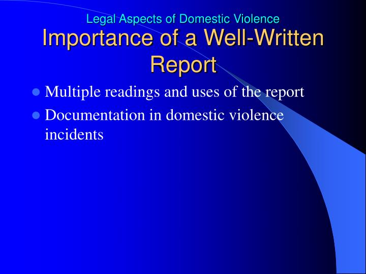 Importance of a Well-Written Report