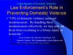 law enforcement s role in preventing domestic violence