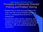 principles of community oriented policing and problem solving2