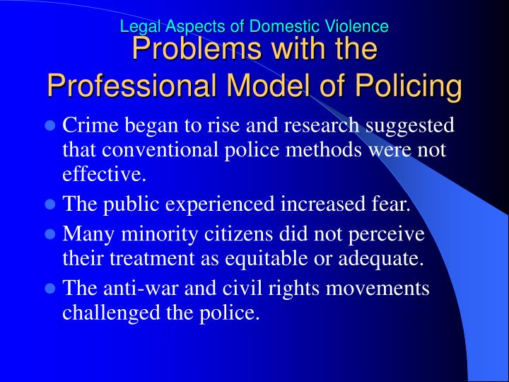 Problems with the Professional Model of Policing