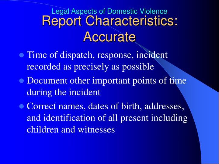 Report Characteristics: