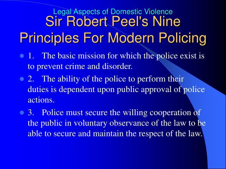 Sir Robert Peel's Nine Principles For Modern Policing