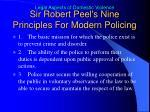 sir robert peel s nine principles for modern policing
