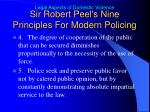 sir robert peel s nine principles for modern policing1