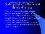 stalking risks for racial and ethnic minorities
