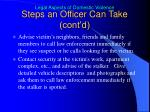 steps an officer can take cont d