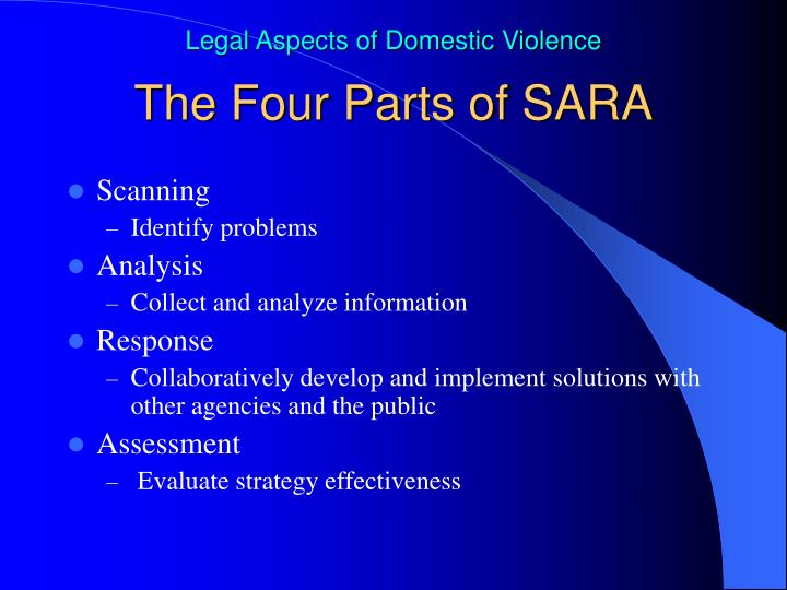 The Four Parts of SARA