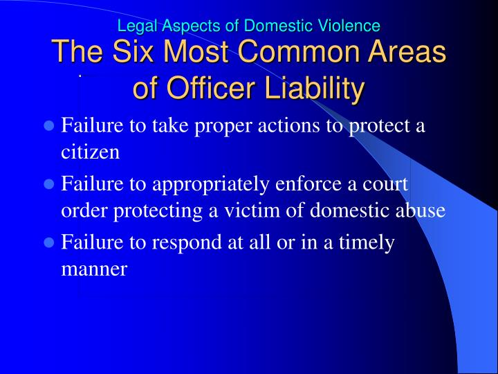 The Six Most Common Areas of Officer Liability