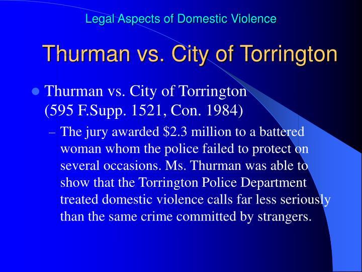 Thurman vs. City of Torrington