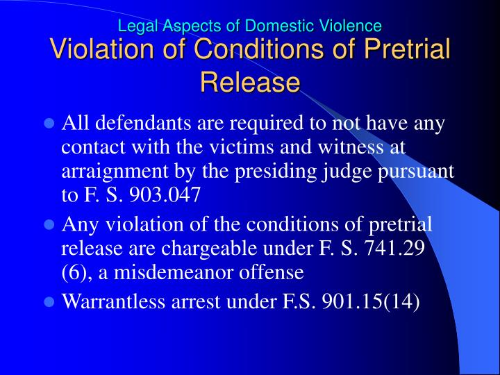 Violation of Conditions of Pretrial Release