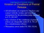 violation of conditions of pretrial release