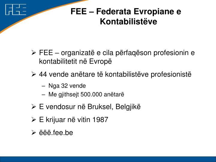 FEE – Federata Evropiane e Kontabilistëve