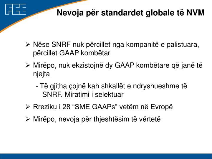 Nevoja për standardet globale të NVM