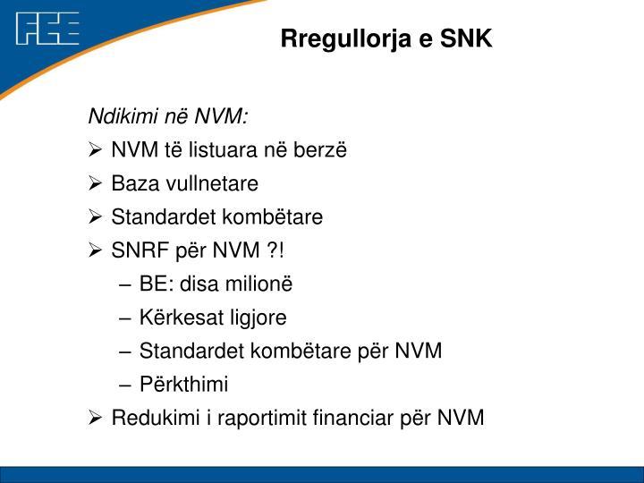 Rregullorja e SNK