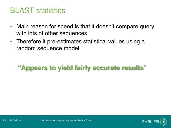 BLAST statistics