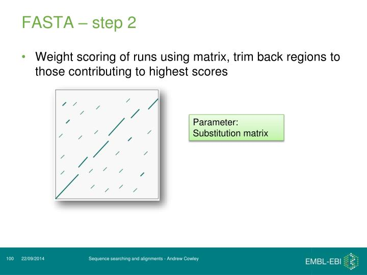 FASTA – step 2