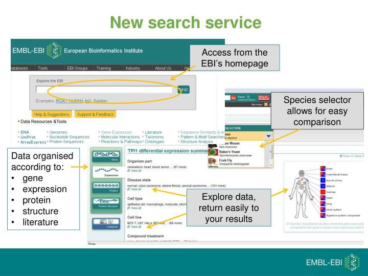 New search service