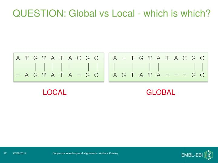 QUESTION: Global vs Local - which is which?