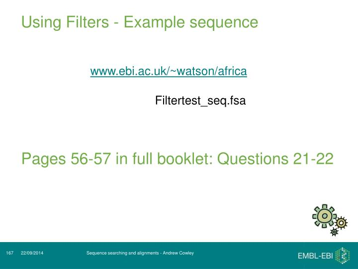 Using Filters - Example sequence