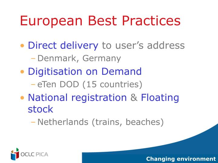 European Best Practices