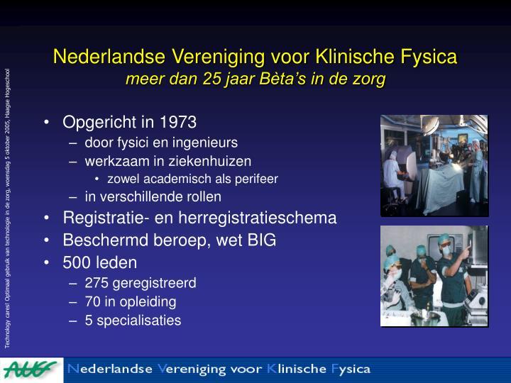 Nederlandse Vereniging voor Klinische Fysica