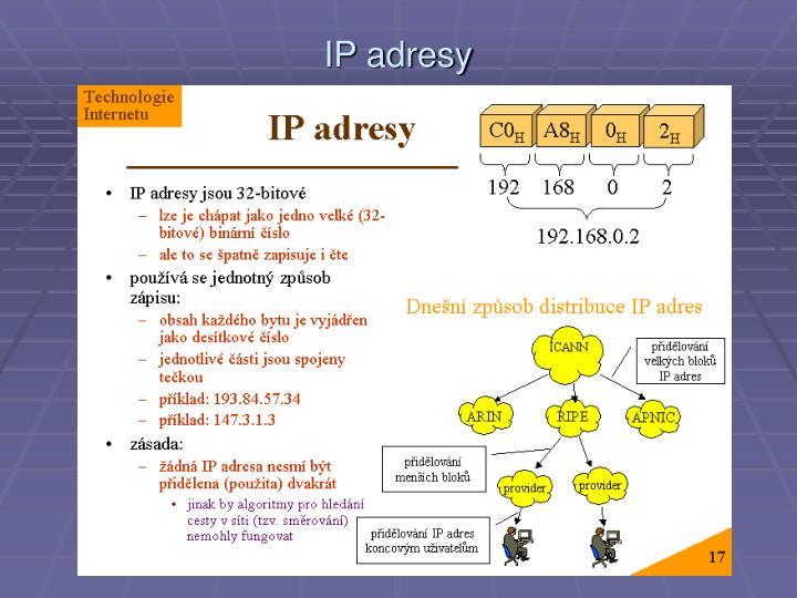 IP adresy