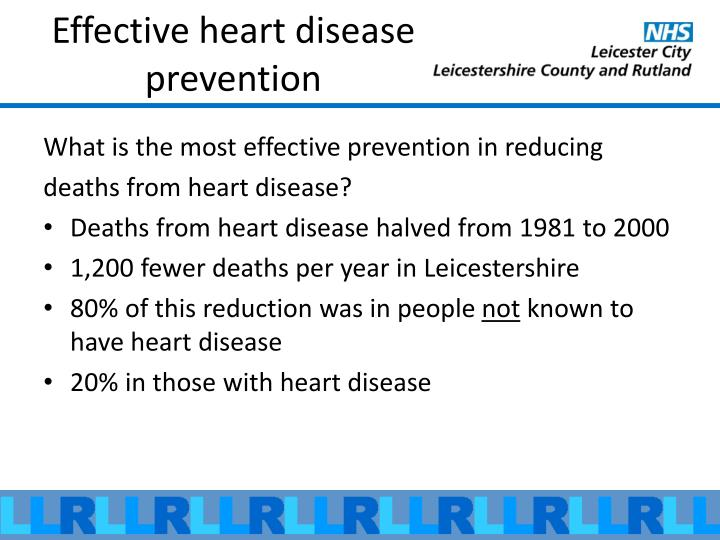 Effective heart disease prevention