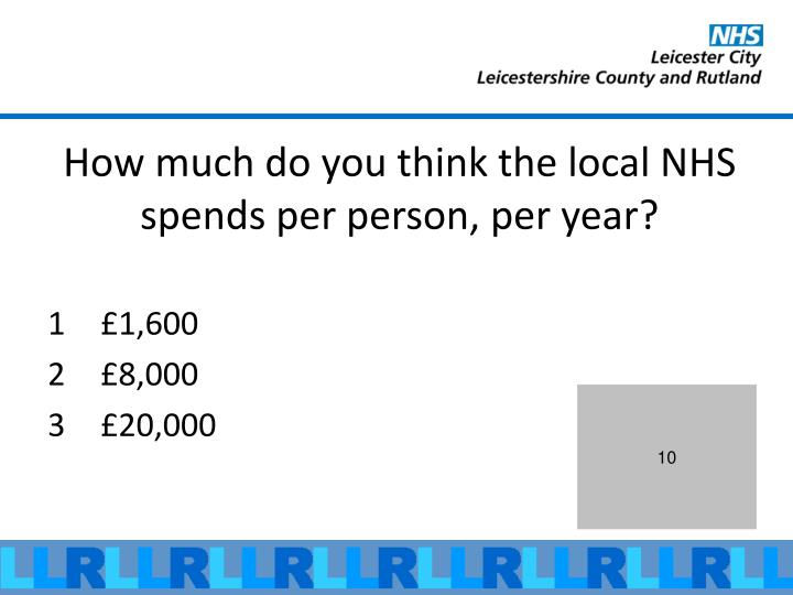 How much do you think the local NHS spends per person, per year?