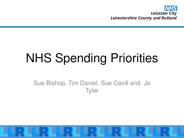 Nhs spending priorities