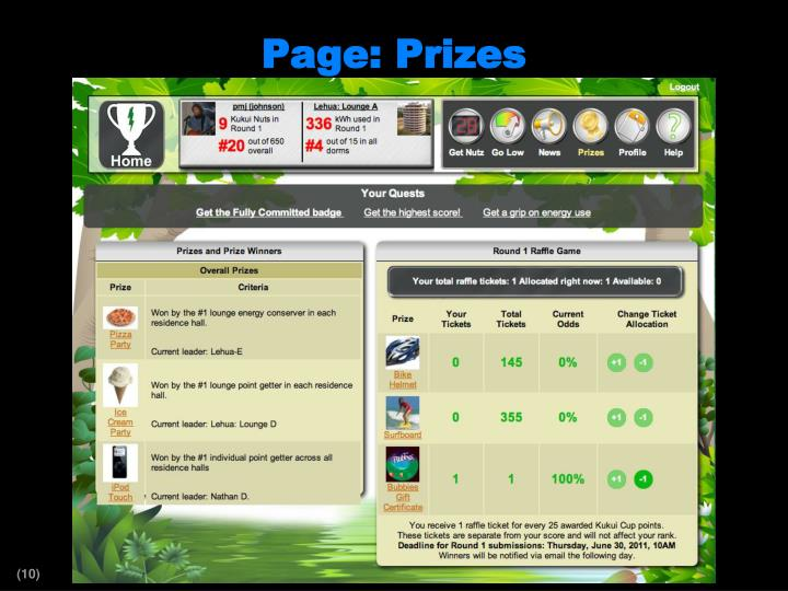 Page: Prizes