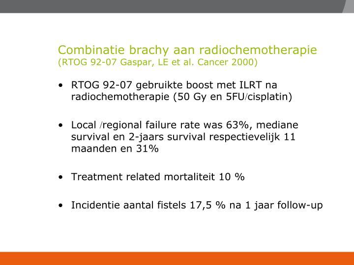 Combinatie brachy aan radiochemotherapie