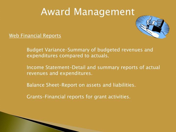 Award Management