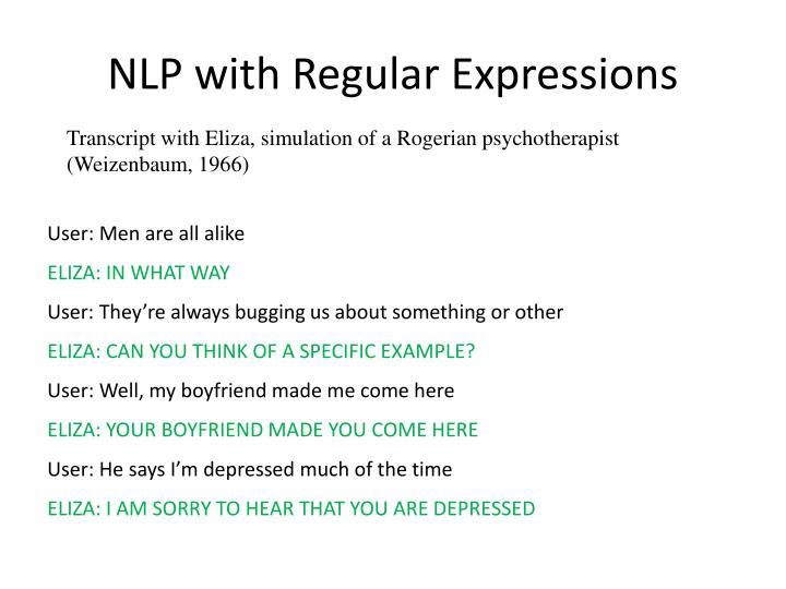 Nlp with regular expressions