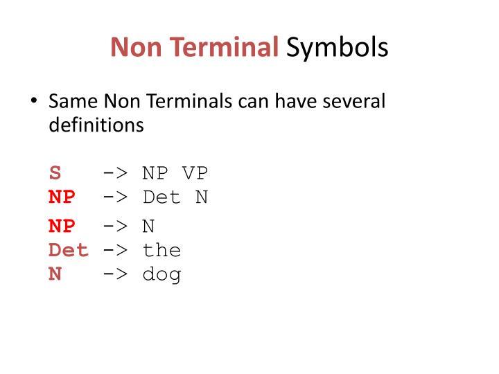 Non Terminal
