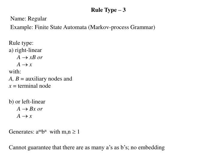 Rule Type – 3