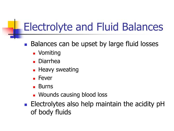 Electrolyte and Fluid Balances