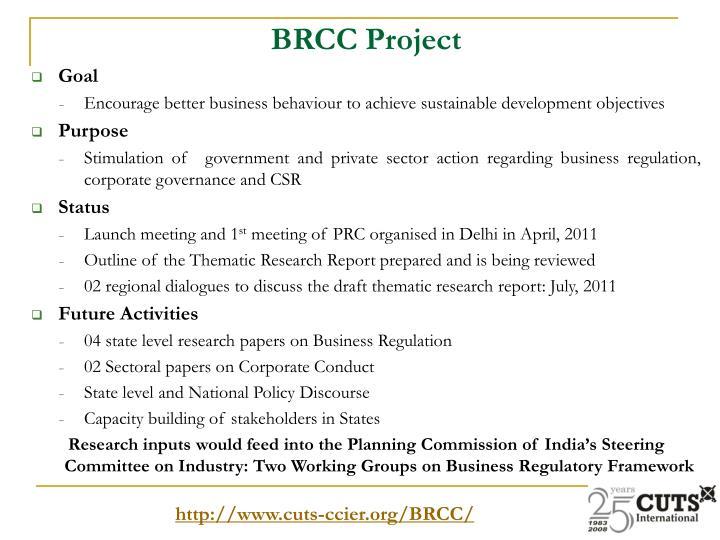 BRCC Project