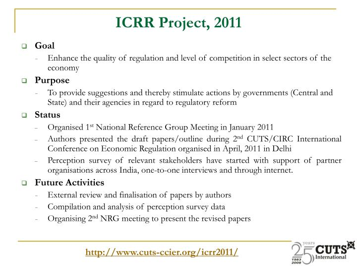 ICRR Project, 2011