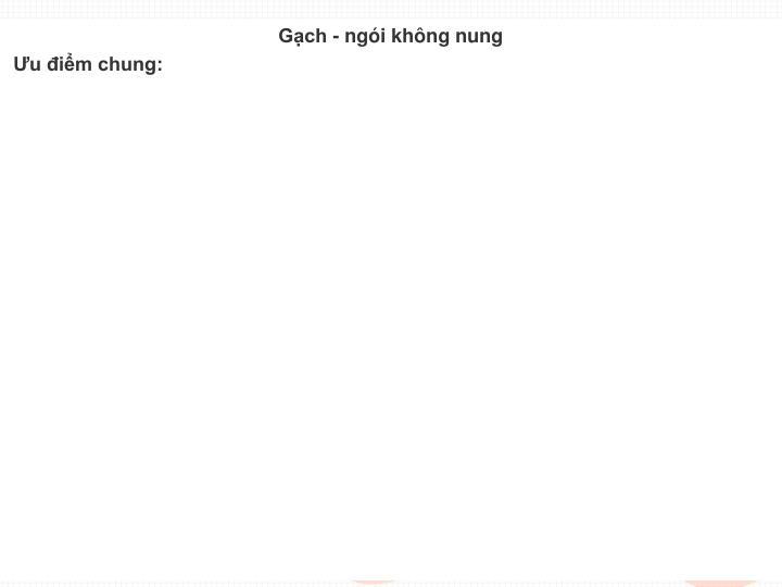 Gch - ngi khng nung