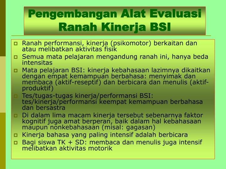 Ppt Penilaian Pembelajaran Bahasa Dan Sastra Indonesia