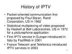 history of iptv