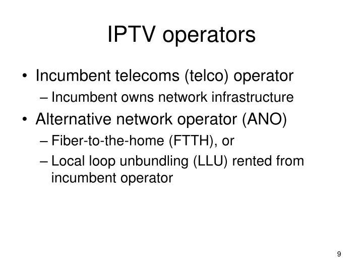 IPTV operators