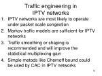traffic engineering in iptv networks