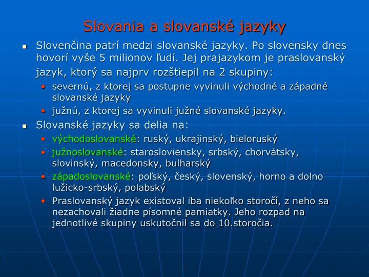 Slovania a slovanské jazyky