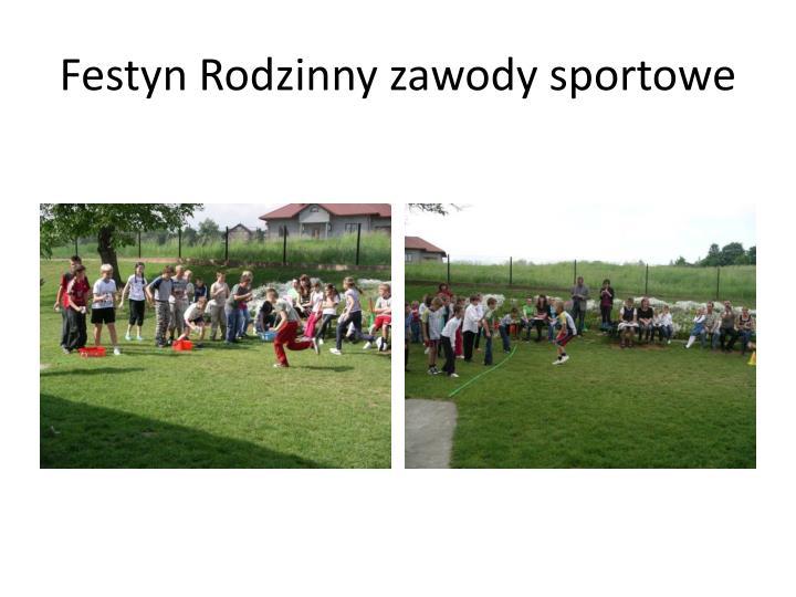Festyn Rodzinny zawody sportowe