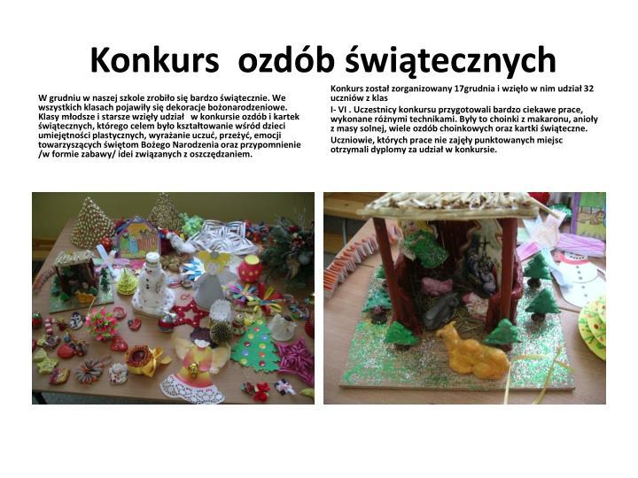 Konkurs  ozdób świątecznych