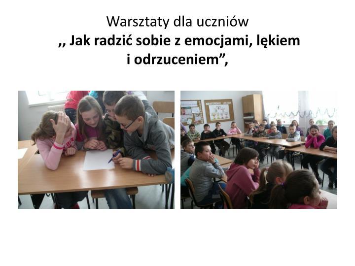 Warsztaty dla uczniów