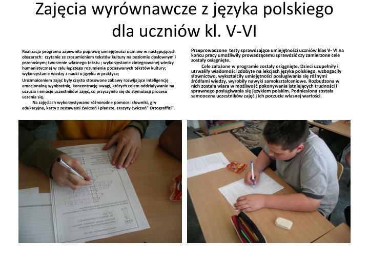 Zajęcia wyrównawcze z języka polskiego